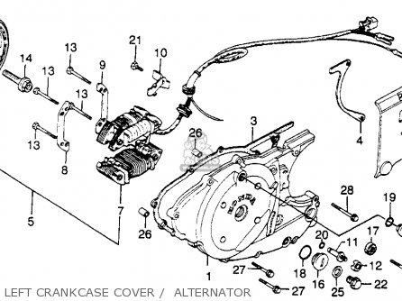 Honda Xl500s 1979 z Usa Left Crankcase Cover    Alternator