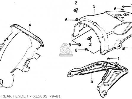 Honda Xl500s 1979 z Usa Rear Fender - Xl500s 79-81