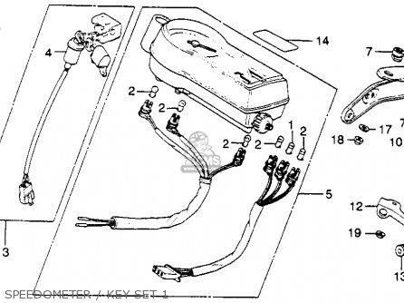 Honda Xl500s 1979 z Usa Speedometer   Key Set 1