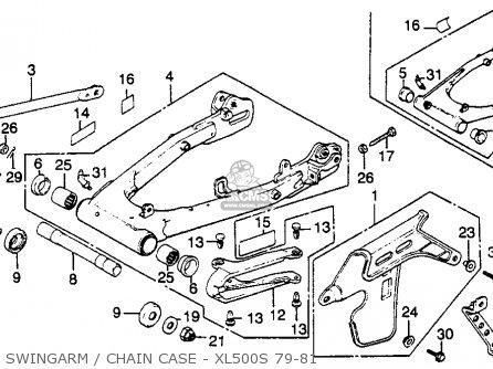 Honda Xl500s 1979 z Usa Swingarm   Chain Case - Xl500s 79-81