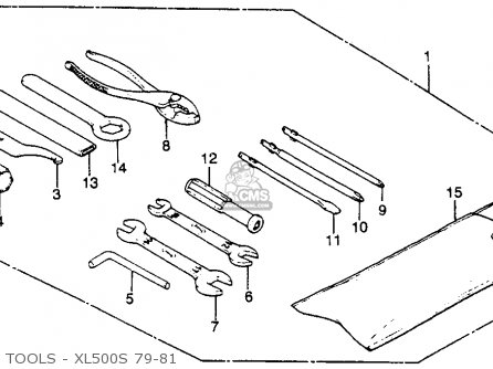 Honda Xl500s 1979 z Usa Tools - Xl500s 79-81