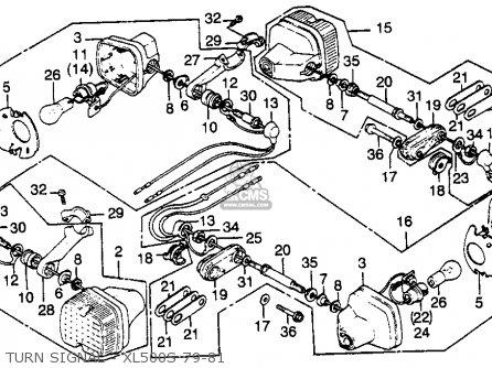 Honda Xl500s 1979 z Usa Turn Signal - Xl500s 79-81
