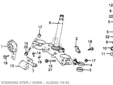 polaris scrambler 500 front wiring diagram honda xl 500 s wiring diagram honda xl500s 1981 (b) usa parts lists and schematics