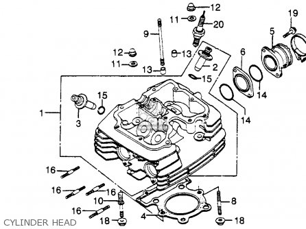 Kawasaki Mule Engine Cover together with Honda Xl500s 1981 Usa Cylinder Head Cover De pression Cable further Carburetor Assy 16100my6772 in addition Honda Xr100r Carburetor Diagram in addition Honda Xr100 Carburetor Diagram. on honda xr650l parts