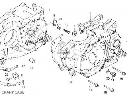 honda xl600r 1985 f usa parts lists and schematics 1983 Honda XR600 honda xl600r 1985 f usa crankcase