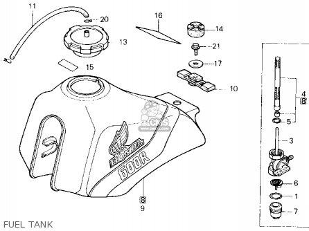 honda xl600r 1985 f usa parts lists and schematics 86 Honda XL600R honda xl600r 1985 f usa fuel tank