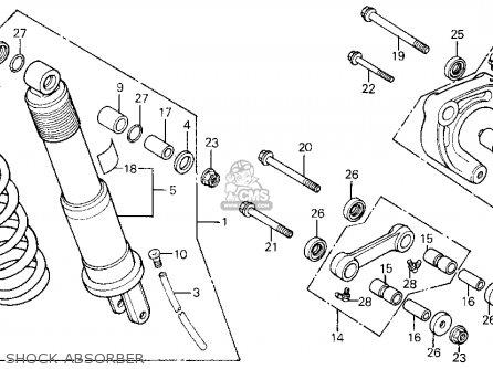 honda xl600r 1985 f usa parts lists and schematics 1988 Honda XL600R honda xl600r 1985 f usa shock absorber shock absorber