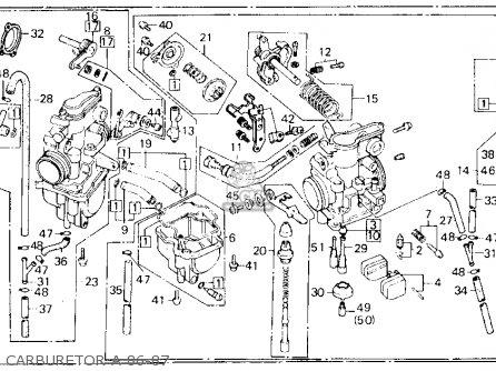 honda xl600r 1986 usa parts list partsmanual partsfiche