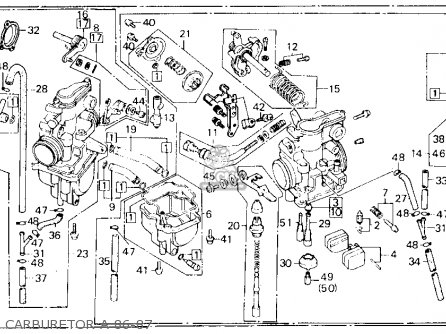 Honda Xl600r 1987 Usa Carburetor A 86-87