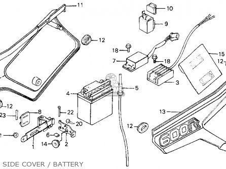 Honda Xl600r 1987 Usa Side Cover   Battery