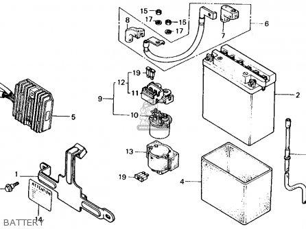 Honda Xl600v Transalp 1989 k Usa Battery