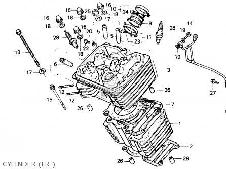 Honda Xl600v Transalp 1989 k Usa Cylinder fr