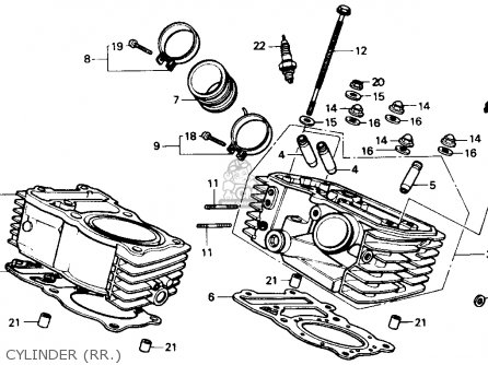 Honda Xl600v Transalp 1989 k Usa Cylinder rr