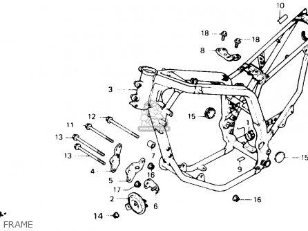 Honda Xl600v Transalp 1989 k Usa Frame