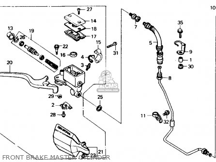Honda Xl600v Transalp 1989 k Usa Front Brake Master Cylinder