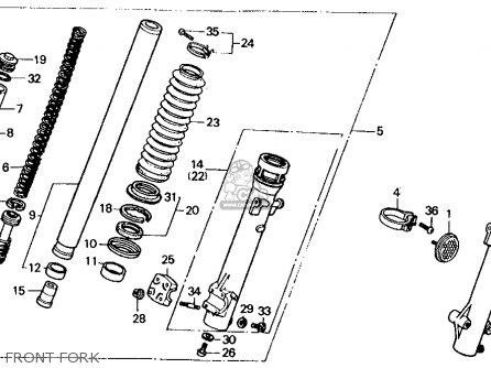 Honda Xl600v Transalp 1989 k Usa Front Fork