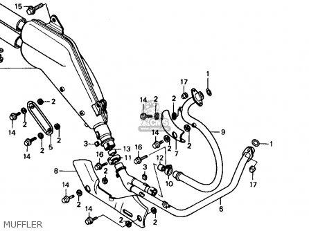 Honda Xl600v Transalp 1989 k Usa Muffler