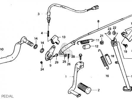 Honda Xl600v Transalp 1989 k Usa Pedal