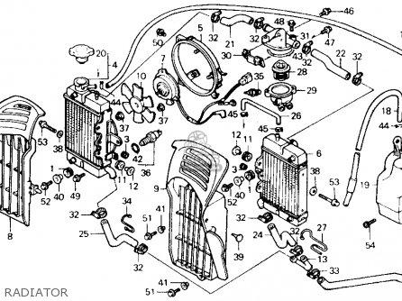 Honda Xl600v Transalp 1989 k Usa Radiator