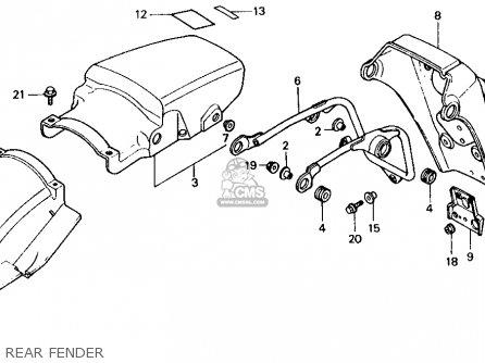 Honda Xl600v Transalp 1989 k Usa Rear Fender