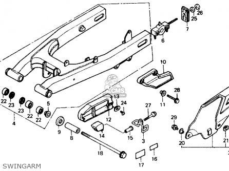 Honda Xl600v Transalp 1989 k Usa Swingarm