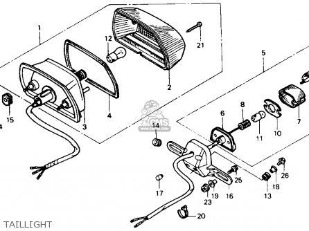 Honda Xl600v Transalp 1989 k Usa Taillight