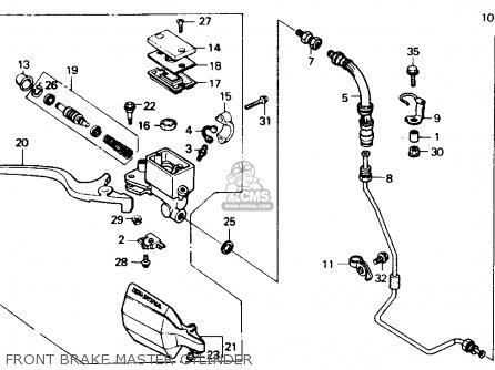 Honda Xl600v Transalp 1989 Usa Front Brake Master Cylinder