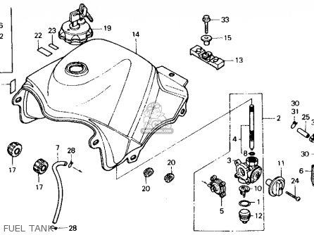 Honda Xl600v Transalp 1989 Usa Fuel Tank