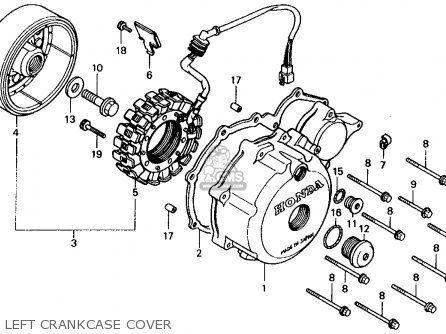Honda Xl600v Transalp 1989 Usa Left Crankcase Cover