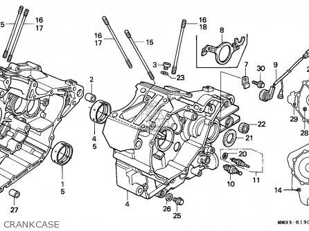 honda xl600v transalp 1993  p  spain parts list