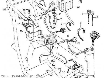 Honda Xl K Usa Wire Harnessbattery Mediumhu F on 1974 Honda Ct70 Wiring Diagram