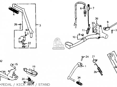 Honda xl75 1979 usa pedal kick arm stand