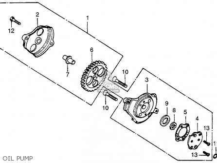 Honda Xr E Usa Oil Pump Mediumhu E B F on Honda Xr100 Carburetor Diagram
