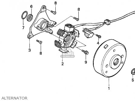 Honda Xr100r 1993 p Usa Alternator
