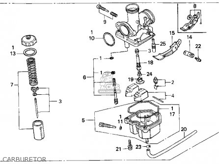 Honda Xr100r 1993 p Usa Carburetor