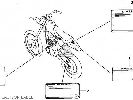 Honda Xr100r 1993 p Usa Caution Label