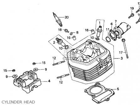 Honda Xr100r 1993 p Usa Cylinder Head