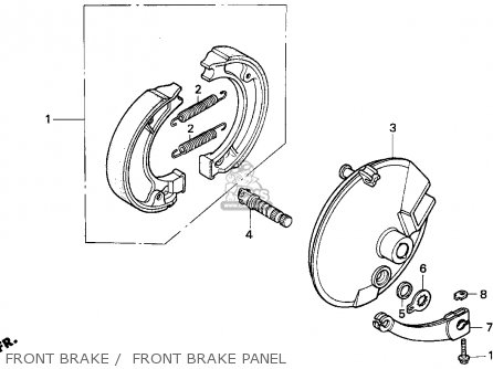 Honda Xr100r 1993 p Usa Front Brake    Front Brake Panel