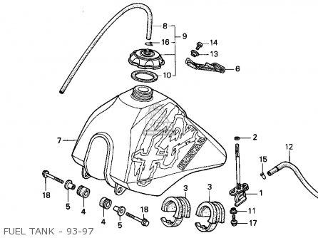 Honda Xr100r 1993 p Usa Fuel Tank - 93-97