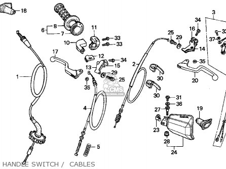 Honda Xr100r 1993 p Usa Handle Switch    Cables