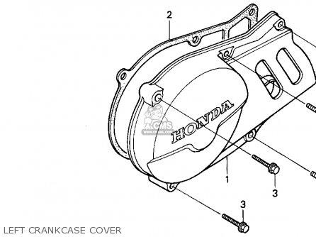 Honda Xr100r 1993 p Usa Left Crankcase Cover