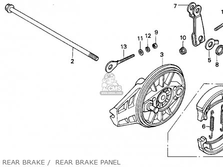 Honda Xr100r 1993 p Usa Rear Brake    Rear Brake Panel