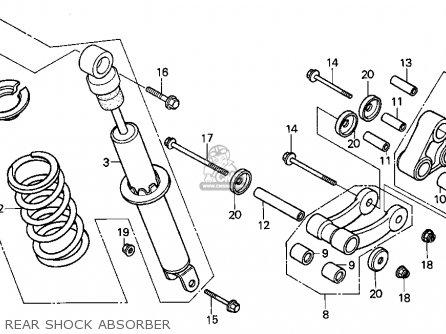 Honda Xr100r 1993 p Usa Rear Shock Absorber
