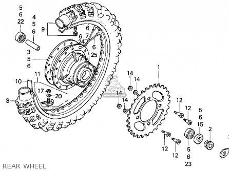 Honda Xr100r 1993 p Usa Rear Wheel