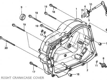 Honda Xr100r 1993 p Usa Right Crankcase Cover