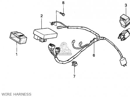 Honda Xr100r 1993 Usa Wire Harness