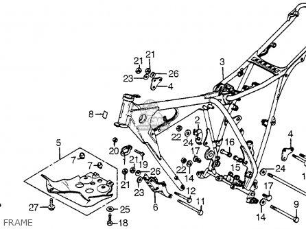 honda xr200r 1981  b  usa parts list partsmanual partsfiche