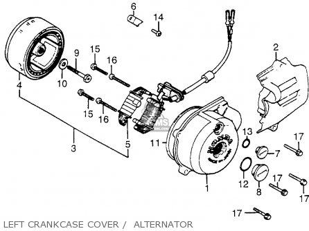 Honda XR200R 1981 (B) USA LEFT CRANKCASE COVER / ALTERNATOR