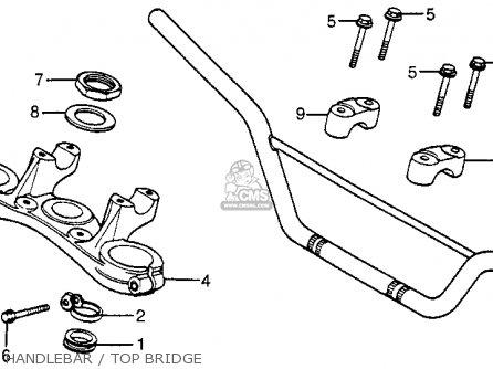 honda xr200r 1982  c  usa parts list partsmanual partsfiche
