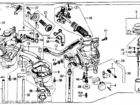 Honda Xr80 Carburetor Diagram on honda ct90 parts diagram